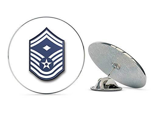US Air Force Senior Master Sergeant Military Veteran USA Pride Served Gift Metal 0.75