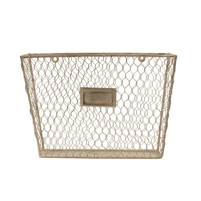 Liza Metal Single File Folder Holder - Chicken Wire Off White by VIP International