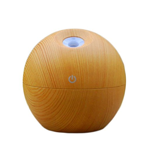 Braceus Mini LED Light Wood Grain Home Aroma Essential Oil Diffuser Purifier Humidifier Aromatherapy Mist for Home, Car,Yoga, Office, Spa, Bedroom, Baby Room (Brown) by Braceus (Image #3)