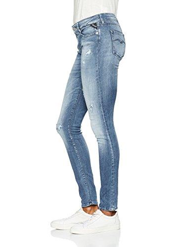 Replay Skinny Bleu Blue Light Hyperflex Denim Femme 10 Luz Jeans TBqwrEvT