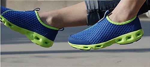 Hommes la Chaussures d'été Homme Bebete5858 Véritable sur Mesh Confortable Cuir Respirant Chaussures en Chaussures Casual Mode Marque Bleu Slip Doux qPFtPr