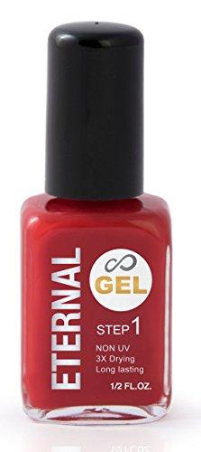 Eternal Nail Polish - Long Wearing Fast Drying Enamel: Classic Red