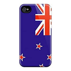 Kmi13045InXE Amanda Diary New Zealand Flag Durable Iphone 4/4s Tpu Flexible Soft Case