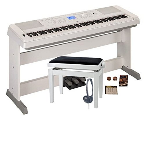 yamaha dgx660 digital piano white lp7 bundle keyboards. Black Bedroom Furniture Sets. Home Design Ideas