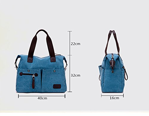 Messenger Canvas Shoulder Casual Brown Fashion FLHT Mom Handbag Bag Comfortable Travel Student Ladies Large capacity Bag Handbag Backpack vFC54
