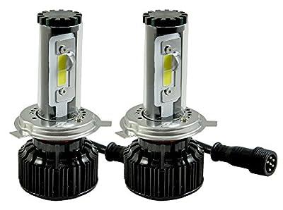 ICBEAMER H4 9003/HB2 LED COB Light Bulb Kit Replace HID or Halogen Lamp [Color:6000K White + 30000K Blue] 2 yr Warranty