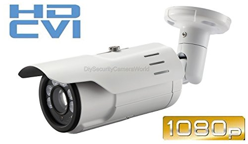 Long Range - 2.4mp 1080p HD-CVI Indoor/outdoor IR Bullet Security Camera - 300' IR - Varifocal 5-50mm Zoom Lens - High Definition Security Recording Over Coax Cable - Must Be Used CVI DVR