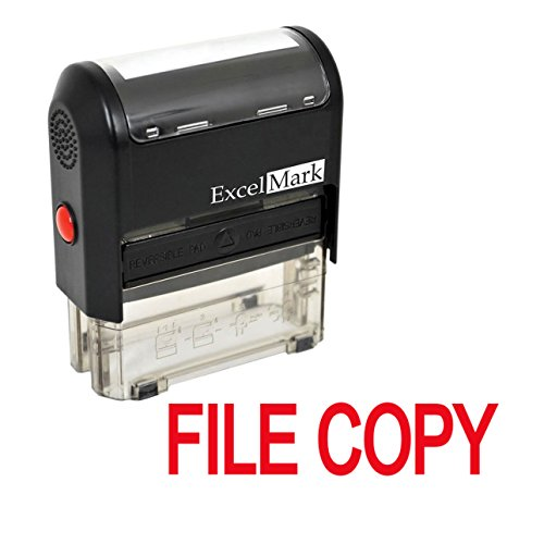 - FILE COPY Self Inking Rubber Stamp - Red Ink