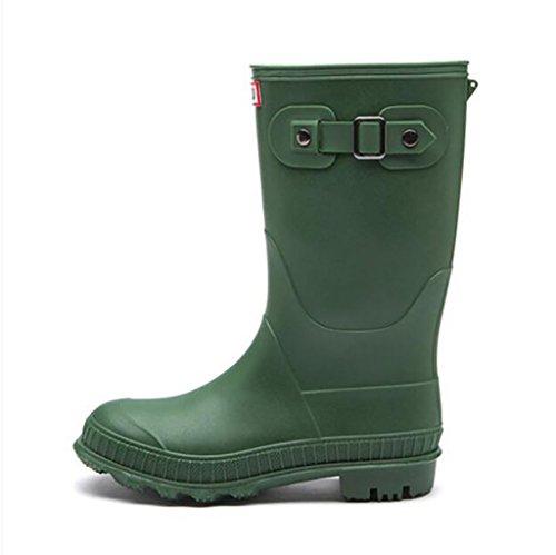 Martin rain Boots, Women's Fashion Shoes Anti-Slip Water Shoes, Overshoes, Outdoor Waterproof Rubber Shoes, Women's Leisure Boots Anti-Slip rain Boots B