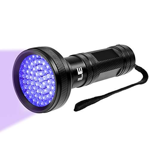 LE UV Flashlight Black Light UV Lights, 68 LED Ultraviolet Blacklight Pet Urine Detector for Invisible Ink Pens, Dog Cat Urine, Dry Stains, Bed Bug and More