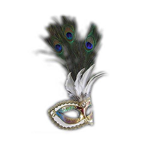 Peacock Masquerade Mask Made Italy product image