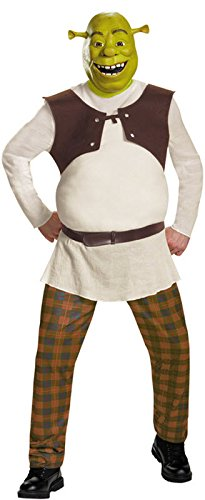 Disguise Men's Shrek Deluxe Adult Costume, Green, XX-Large (Shrek Halloween Costumes)