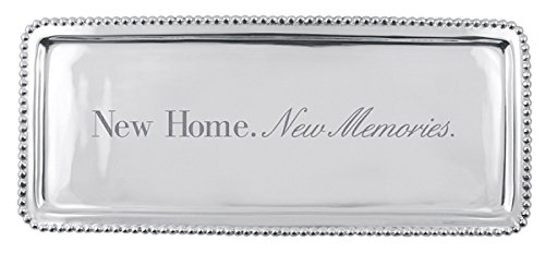 MARIPOSA Home. New Memories. Beaded Long Tray, Silver