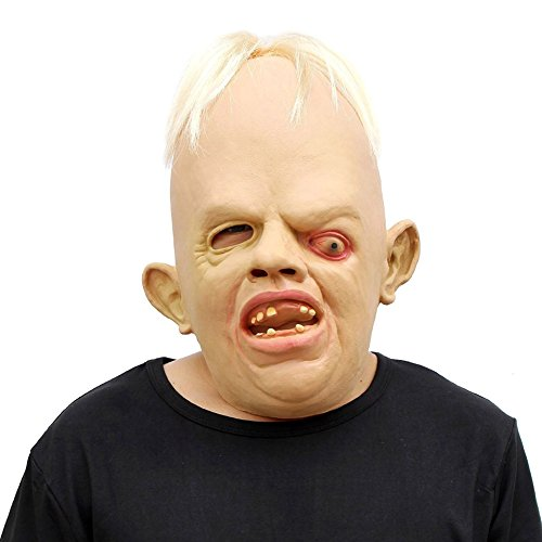 (cyclamen9 Novelty Latex Rubber Creepy Scary Ugly Baby Head The Goonies Sloth Mask Halloween Party Costume Decorations(Latex)