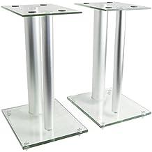 VIVO Premium Universal Floor Speaker Stands Dual Pillar for Surround Sound & Book Shelf Speakers (STAND-SP01S)