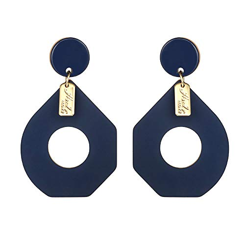 ❤ Women Bohemian Irregular Geometric Round Tag Acrylic Earrings Under 5 Dollars Valentine's Day Gifts for Girlfriend 2019 New ()
