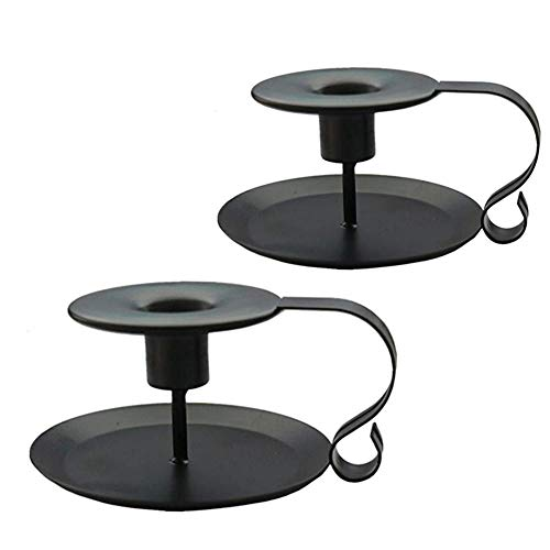PRINTEMPS Wrought Iron Taper Candle Holder,Iron Candle Holders,Matte