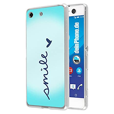 deinPhone Sony Xperia M5 Silicona Carcasa Case Smile: Amazon ...