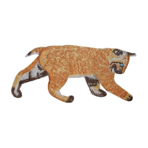 ID 3021 Bobcat Walking Patch Wild Animal Lynx Embroidered Iron On Applique for Accessories - Bags/Purses, Apparel - Coat/Jacket, Apparel - Jeans/Pants, Children, Crafts by SayrusPlay ()