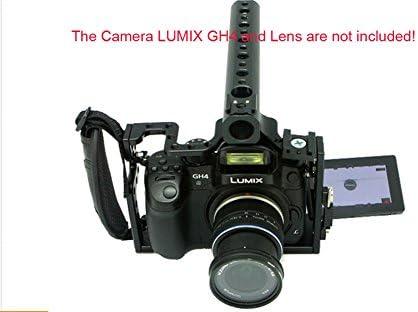 Última jaula de cámara DSLR con empuñadura superior y mango para ...