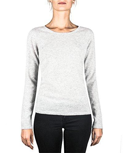 Donna Sweater Da Cachemire ch Cash Grigio xs A xxl Pullover Maglione Chiaro Girocollo mere 100 qWAw8Hv1