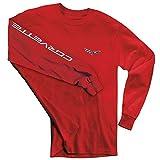 Corvette T-Shirt - C6 Logo w/Corvette Script on Sleeve - Red (XX-Large)