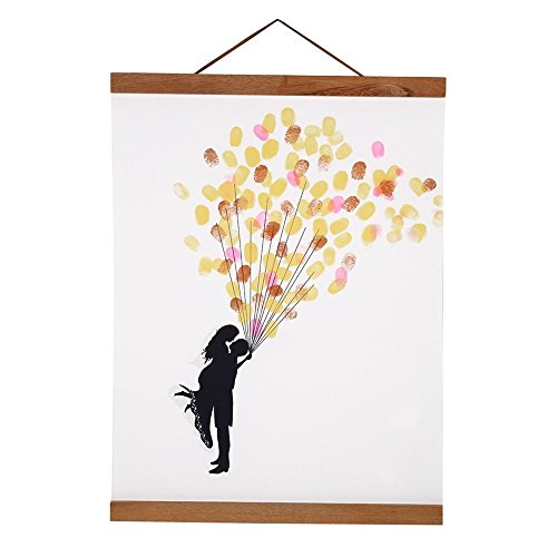 Magnetic Wooden Photo Frame Natural Wood Frame Picture Poster Artwork Canvas Hanger For Home Decoration Wall Teak Wood (Size:50cm/19.68inch)