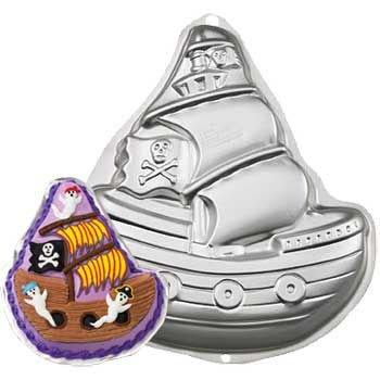 Novelty Cake Pan-Pirate Ship 13.2x11.25x2