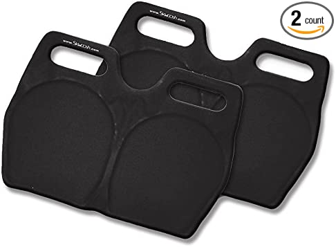 Made in The USA Twin Pack of SKWOOSH Stadium Bleacher Buddies Pad Seat Cushions with Fluidized Gel for Comfort