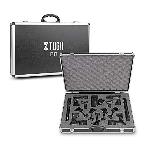 XTUGA PI7 7-Piece Wired Dynamic Drum Mic Kit (Metal and Plastic)- Kick Bass