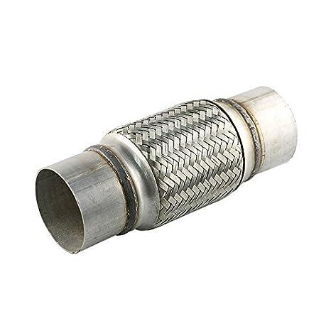 Amazon.com: Silenciador de tubo de escape flexible de acero ...
