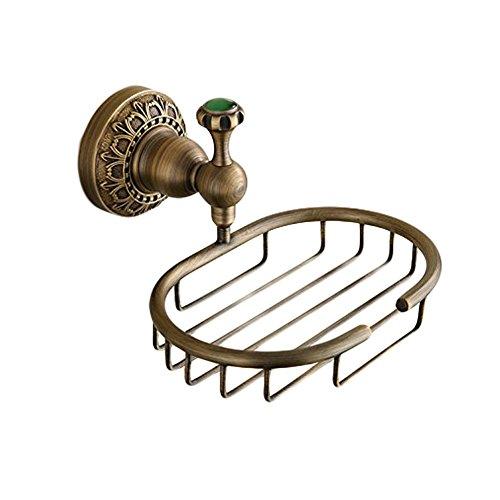 Brass Vintage Soap Dish - Beelee Elegant Solid Brass Material Soap Basket Soap Dish Holder Wall Mount Bath Soap Storage Basket