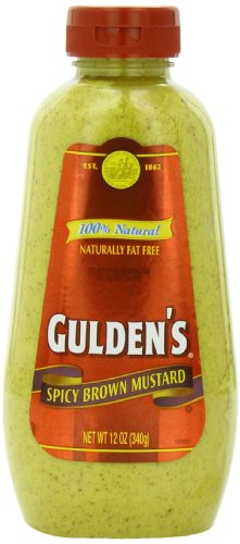 Gulden's Spicy Brown Mustard, 12-Ounce Plastic Bottles (Pack of 12)