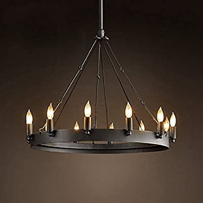 Aiwen Wrought Iron Lamps Country Retro Simple Chandelier