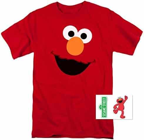 Sesame Street Elmo Face T Shirt & Exclusive Stickers