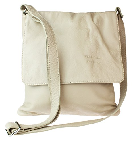 Girly HandBags Damen Renata Umhängetaschen, One Size Beige