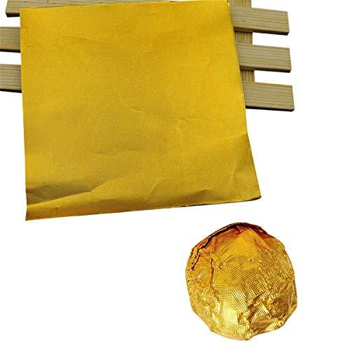 100 Pcs/Pack Golden Aluminum Foil Candy Chocolate Cookie