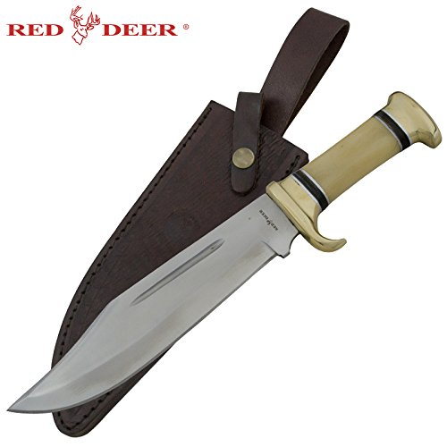 RED DEER 14 inchRed Dear Outdoors Bowie Knife with Animal Bone Handle