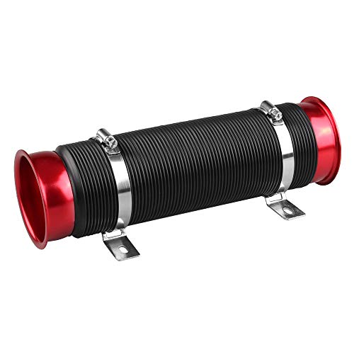 HERCHR Car Modification Accessories, Adjustable Intake Telescopic Tube, Pressurized Intake Hose, Diversion Tube (red):