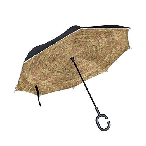 All agree Inverted Reverse Umbrella Wall Mandala Windproof for Car Rain Outdoor