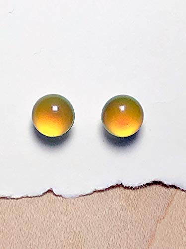 7mm Color ChangingMood and Sterling Silver Post Earrings