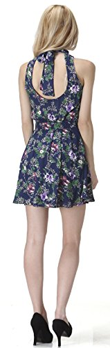 Floral Print Dress Women's Womens Navy Carapace Floral Sleeveless tqnxEHnp