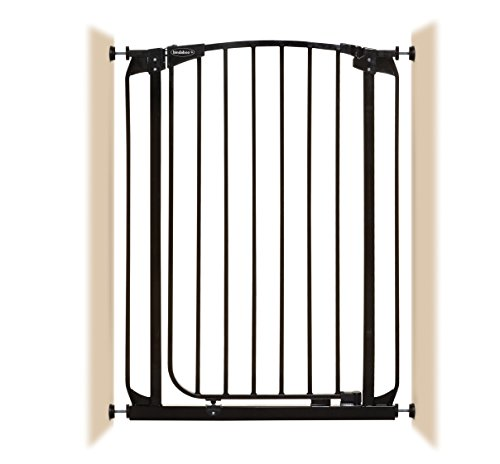 Bindaboo Pet Gates - Bindaboo Hallway Pet Gate, Swing Closed, Black, Extra-Tall