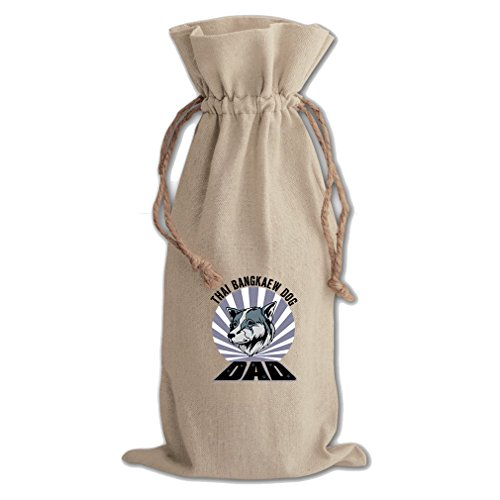 Canvas Wine Cotton Drawstring Bag Dad Thai Bangkaew Dogdog Style In Print by Style in Print