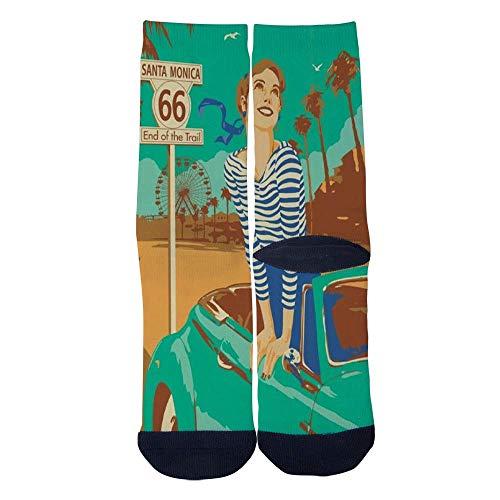 Eletina lee Monica Socks Men S Women S Custom Santa Monica Pier Sign Socks 3D Print Novel Creative Casual Crew Socksroute 95 Sign -
