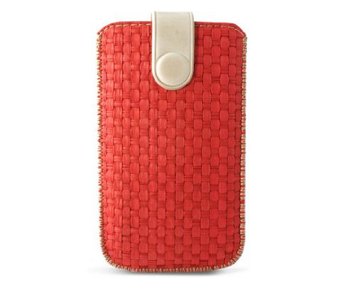 KSIX BXFUPIRJ Zahara Handytasche für Apple iPhone 4/4S Große L4/4S rot