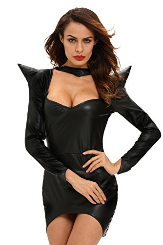 [Ashley Womens Dark Sorceress Costume, Black, Medium] (Cute Unique Costumes)