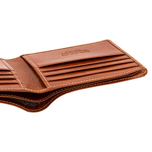 cb3a214063ea Giudi Luxury Bifold Men's Wallet Made in Italy - Beautiful Genuine Cow  Leather - 8 Business Credit Card Holder - Slim and Comfortable - Excellent  Gift ...
