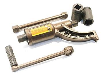 Ecnopower - Multiplicador de fuerza - Llave para aflojar/desenroscar los pernos de las ruedas de camiones, tractores o furgones: Amazon.es: Coche y moto