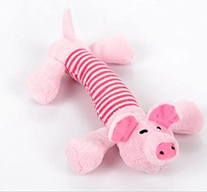 Juguete Mordedor con Sonidos para Perro Cachorro Mascota Peluche -Color rosa